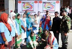 Winners of Kho-Kho competition posing alongwith chief guest and other dignitaries in Ramban.