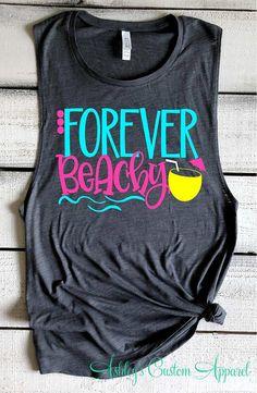 0f2b492b Beach Shirts Girls Trip Shirts Swimsuit Coverup Forever Beachy Funny Beach  Tank Top Beach Please Summer Vacation Shirts Funny Beach Cover Up