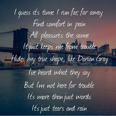 Tears and Rain. ..James Blunt