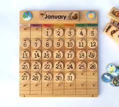 Etsy Wooden Perpetual Calendar -- Weather Chart -- Waldorf Calendar -- Montessori Calendar -- Wood Calender {affiliate}
