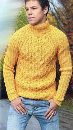 Вязаный мужской пуловер | knitt.net | Все о вязании