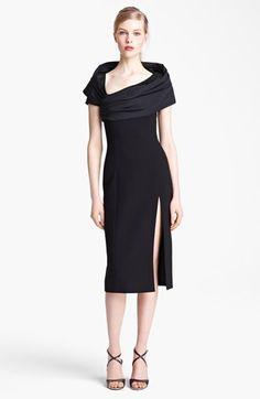 Michael Kors Portrait Collar Stretch Bouclé Dress available at #Nordstrom