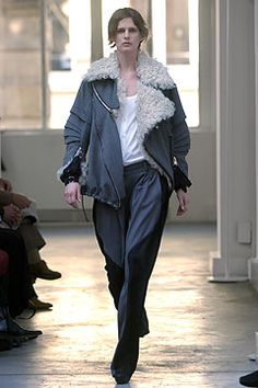Fall 2004 Ready-to-Wear - Balenciaga loving the loose trousers and shearling coat