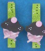 Prendedor ♥ Cupcake rosa