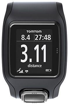 TomTom Runner Cardio Watch Black/Black, One Size - http://www.exercisejoy.com/tomtom-runner-cardio-watch-blackblack-one-size/cardio-training/