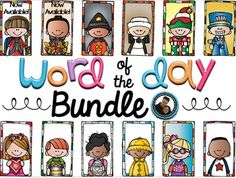 Word of the Day, bundle, seasons, printables, no prepThis is a years worth of Word of the Day goodness!  Included will be over 300 pages of seasonal themed words, which are perfect for your young learners. Currently, the first month is available for Back to School, or August.On each sheet, students are challenged to:~Color the Word~Decide How Many Syllables, Vowels, and Consonants~Decide if it's a Noun, Verb, or Adjective~Write its Definition~Use it in a Sentence~Draw a Picture~Use the…