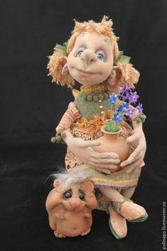 Купить Маленькая фея - кукла ручной работы, кукла, текстильная кукла, авторская ручная работа