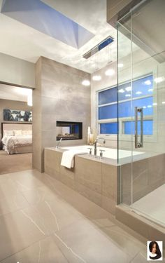 Luxury Master Bathroom Ideas is very important for your home. Whether you choose the Small Bathroom Decorating Ideas or Luxury Bathroom Master Baths Photo Galleries, you will create the best Luxury Master Bathroom Ideas Decor for your own life. Cozy Bathroom, Modern Master Bathroom, Modern Bathroom Design, Bathroom Interior Design, Bathroom Ideas, Bathroom Organization, Bathroom Remodeling, Modern Bathtub, Modern Bathrooms