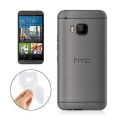 HTC One M9 Ultra dunne TPU cover, case, hoesje, frontje Transparant