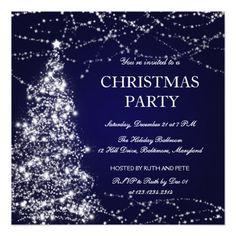 Beautiful Christmas Tree Shining Stars Party Blue