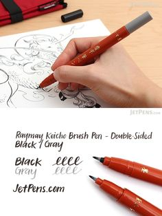 Create beautiful calligraphy and art with this convenient double-sided brush pen! Featuring durable polyester tips that respond to changes in writing pressure, it combines the grace of a brush pen with the ease-of-use of a felt-tipped marker.