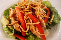 Asian Chicken Salad with Hoisin Vinaigrette | Mel's Kitchen Cafe