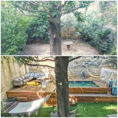 Small Backyard Design, Small Backyard Pools, Swimming Pools Backyard, Garden Design, Landscape Design, Small Swimming Pools, Backyard Pool Designs, Backyard Landscaping, Backyard Ideas