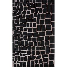 @Overstock - Hip and modern, the Crocodile Skin Print rug is handmade with durable and stain-resistant poly yarns. The rug is skillfully hand-carved for a unique textured look and features modern shades of black and beige.http://www.overstock.com/Home-Garden/Handmade-Alexa-Black-Norwegian-Crocodile-Skin-Print-Rug-5-X-8/5242237/product.html?CID=214117 $138.99
