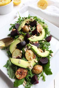 roasted beet potato arugula salad with lemon vinaigrette roasted beet ...