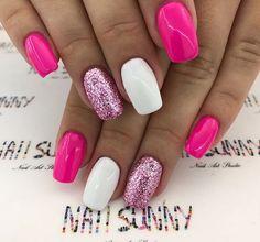 nails pink glitter \ nails pink + nails pink glitter + nails pink and white + nails pink acrylic + nails pink and black + nails pink ombre + nails pink and blue + nails pink short Gorgeous Nails, Pretty Nails, Pretty Toes, Vacation Nails, Nagel Blog, Nail Polish, Nail Nail, Nail Swag, Toe Nails