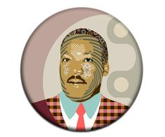 Martin Luther King Fridge Magnet, Black History, African American Gift, Human Rights Activist, 2. 25 inches diameter, 0.25 inches AVAILABLE @ $6.25