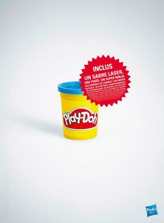 Brand : Play-Doh // Country : France // Concept : Remembering us everything we could create with a box of this magical paste : a house, a cake, a spaceship, a unicorn...