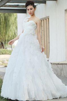 Wedding Dresses 2014, Cheap Wedding Dress, Bridesmaid Dresses, Prom Dresses, Gown Wedding, Silhouette, Chapel Train, Elegant, One Shoulder Wedding Dress