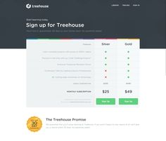 Plans from Treehouse   PatternTap   ZURB Library