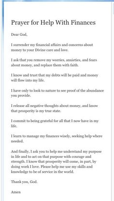 #Prayer for help with #finances Empowering You To Attain Personal Financial Success Today! http://quinkinsey.myecon.net:
