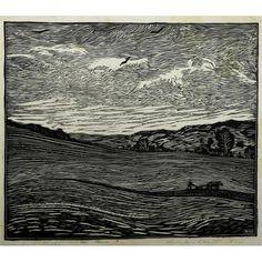 Wharton Esherick, April Ploughing, woodcut