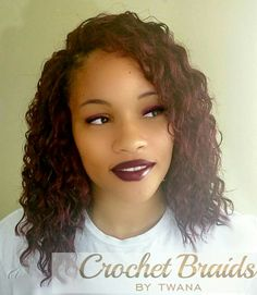 Crochet Braids with a mix of Freetress Deep Twist and Natural Twist in color…