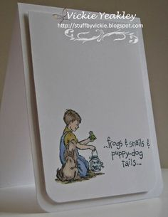On The Fringe: CAS card for a boy