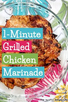 It only takes one minute to mix up this super easy grilled chicken marinade and the results and delicious! Homemade Chicken Marinade, Chicken Marinades, Chicken Fajitas, Simple Chicken Marinade, Whole 30 Chicken Recipes, Grilled Chicken Recipes, Quick Easy Meals, Easy Dinner Recipes, Easy Desserts