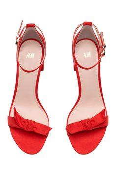 Sandálky - Jasně červená - ŽENY | H&M CZ 1
