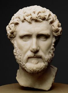 Portrait of Emperor Antoninus Pius, 138–161; Antonine Roman Marble Source: Portrait of the emperor Antoninus Pius [Roman] (33.11.3) | Heilbrunn Timeline of Art History | The Metropolitan Museum of Art