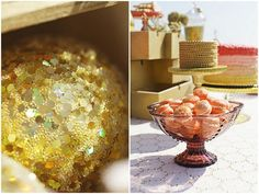 Sparkly Gold dessert table