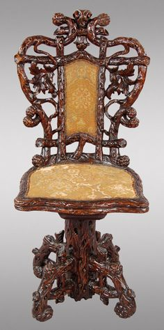 "214: Robert Manwaring style ""Rural"" hall chair, : Lot 214"