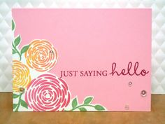 Handmade by Michelle: Rescuing a smudged card