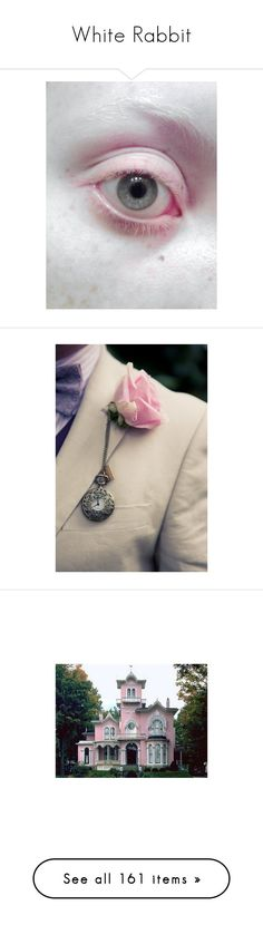 """""""White Rabbit"""" by serib ❤ liked on Polyvore featuring house, animals, pictures, backgrounds, alice in wonderland, photos, flowers, images, other and detail"""