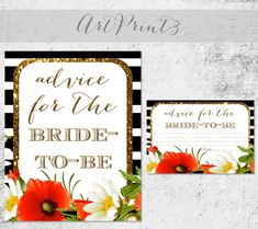 Advice For The Bride To Be Printable, Bridal Shower Advice For The Bride Sign and Cards, Rustic Bridal Shower Advice Decor Printable