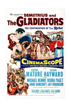 Demetrius and the Gladiators Movies Art Print - 41 x 61 cm