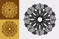 Small Vector Mandala in SVG, Eps and Affinity Designer Vector Format Simple Mandala, Affinity Designer, Vector Format, Mandala Design, Vector Design, Circuit, Vector Free, Printing, Image