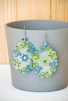 Handmade Shrink Plastic Earrings. $16.00, via Etsy.