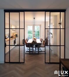 House Design, Home Living Room, House Inspo, House Styles, New Homes, House Interior, Home Deco, Home Interior Design, Glass Doors Interior
