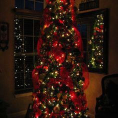 Christmas Tree in red.