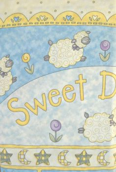 Sweet Dreams Brushed Cotton Panel Fabric, by Moda Fabrics, 100 Percent Cotton, 1 panel cut by CurlicueCreations on Etsy