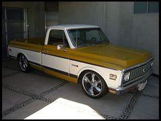 1972 Chevrolet Cheyenne Pickup Truck #chevy