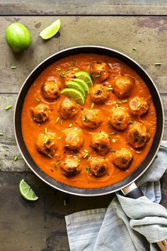Veggie Balls in Creamy Masala Sauce - Full of Plants