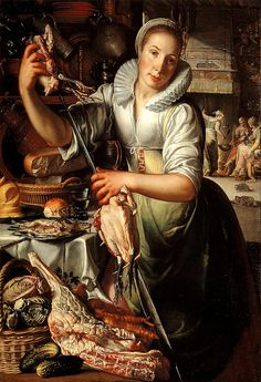 Great Expectations film) on Joachim Wtewael (Dutch, The Kitchen Maid, c. oil on canvas, Collection Centraal Museum Utrecht. Kitchen Maid, Google Art Project, Dutch Golden Age, National Gallery Of Art, Dutch Artists, Oil Painting Reproductions, Renaissance Art, Utrecht, 17th Century