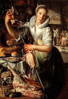 The Kitchen Maid, Joachim Wtewael (Utrecht 1566-1638)