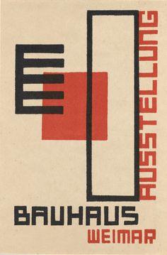Kurt Schmidt. Bauhaus Ausstellung Weimar Juli–Sept, 1923, Karte 18. 1923. Lithograph, 5 7/8 × 3 15/16″ (15 × 10 cm).