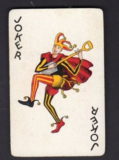 wind up clown box card joker Joker Playing Card, Joker Card, Playing Cards, Plauge Doctor, Punch And Judy, Clown Mask, How To Get Away, Jouer, Middle Ages