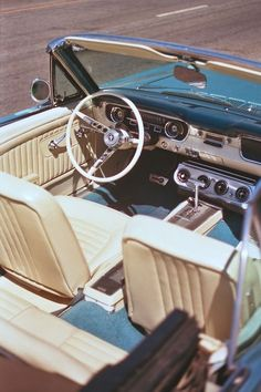 inspiration | car | vintage | mustang | interior | style | classic | timeless |