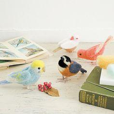 さくさくニードルフェルト お部屋に遊びに来たかわいい小鳥たちの会